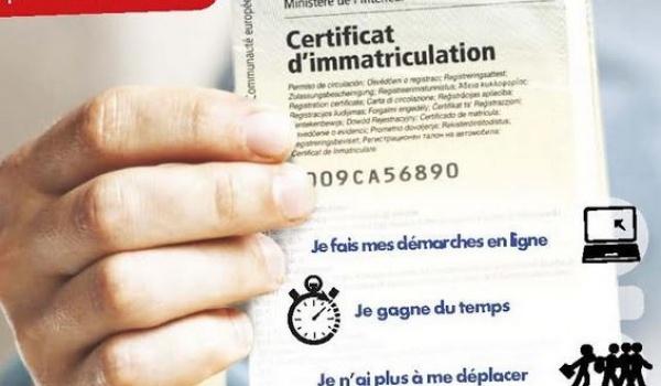 Formalités de demande de certificat d'immatriculation, anciennement appelé «carte-grise»